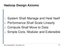 Design Axioms Hadoop Design Axioms System Shall