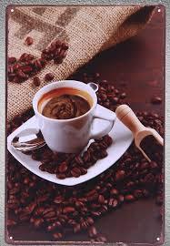 <b>1 pc</b> Espresso <b>Cappuccino</b> Italian <b>coffee</b> shop <b>latte</b> Tin Plate Sign ...
