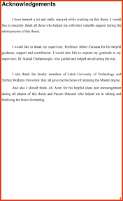 Acknowledgementaster Thesis Sample For Pdf Resume 34 Awesome