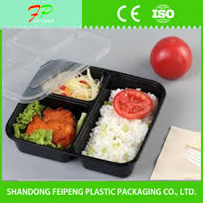 Black color food grade plastic packaging boxes/lunch bento box Color Food Grade Plastic Packaging Boxes/lunch Bento Box