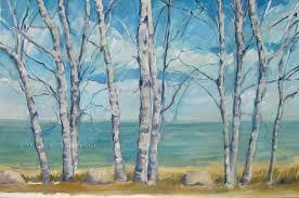 birch trees lake huron sline