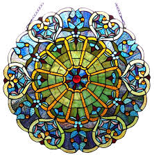 willa tiffany glass victorian window panel