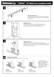 sliding wardrobe doors installation guide page closet doorrepair spacepro stanley traditional