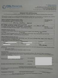 Example Of Share Certificate Custom How To Request Stock Certificate At COL Financial For Visa Application