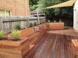 more decking seats backyard seating
