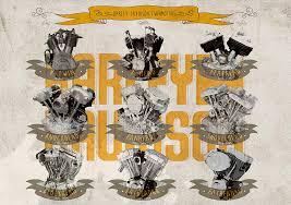harley davidson engine history digital art by yurdaer bes