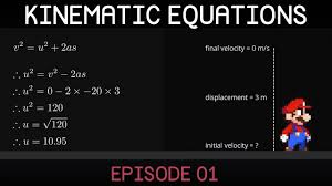 kinematic equations e01 introduction