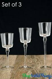 long candle holder tall glass candle holders set of 3 cylinders long stem 8