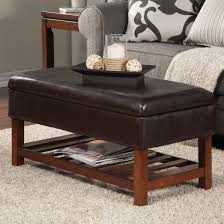 Nailhead Coffee Table Furniture Elegant Ottoman Coffee Table Two Rows Of Nailheads Along