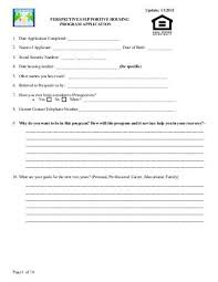 Homeless Third Party Verification Form Perspectives Family Center