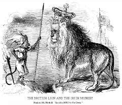 Of British And Irish Lion Views Monkey The Famine