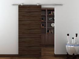 image of minimalist sliding barn door hardware ideas