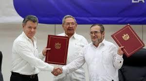 Resultado de imagen para gobierno y farc firmaron acuerdo