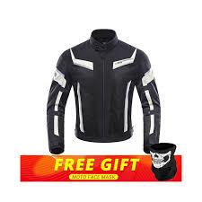 duhan men motorcycle jacket motorcycle pants set spring summer breathable mesh jacket moto pants suit clothing protective gear color black jacket size m