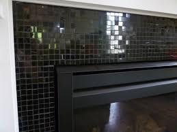 black glass tile fireplace surround ideas