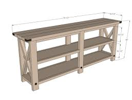 diy sofa table ana white. Diy Sofa Table Ana White