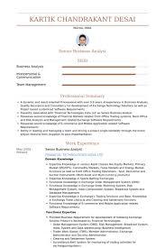 Senior Business Analyst Resume Samples Visualcv Resume Samples