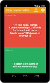 ... Super Resume Builder Pro, CV- screenshot thumbnail ...