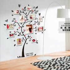 ay6031 new arrival large colorful family photo frame wall decal kindergarten diy art vinyl tree wall stickers decor mural wall art es wall art es