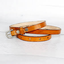 women s barely noticeable thin leather belt