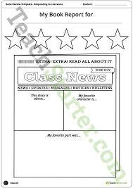 Newspaper Book Report Template Newspaper Themed Book Report Template And Poster Teaching
