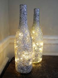 Lights In Wine Bottles For Decorations