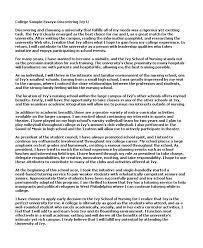 sample college essays good examples of college essays org good examples of college essays