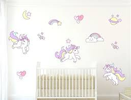 unicorn wall decal somewhere over the rainbow a unicorn jumping over a shooting star unicorn wall