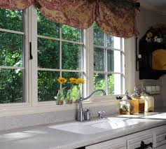 Kitchen Windows Pretty Brown Fabric Curtain Valance Kitchen Window Ideas For