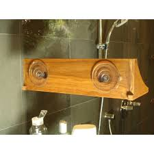 Bathroom Shelf Aqua Teak Spa Teak 16 W Bathroom Shelf Reviews Wayfair