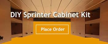 order your diy sprinter cabinet kit