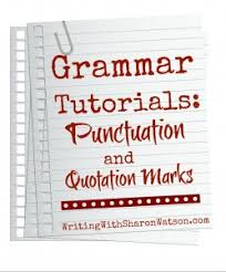 quotation marks and commas periods colons and semicolons punctuation