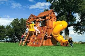 backyard rainbow outdoor playsets for small yards