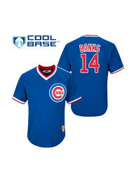 Jersey Blue Banks Chicago Cubs Authentic Royal - Ernie Cooperstown Men's