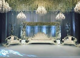 asian wedding decoration with chandeliers for hire and al