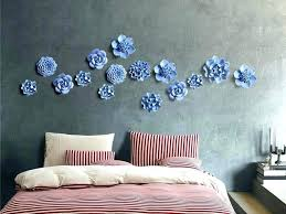 ceramic flower wall decor ceramic wall decorations blue flower decor
