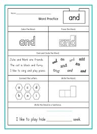 Kindergarten Writing Practice Math Kindergarten Sight Word ...