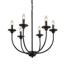 6 light black chandelier