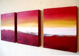 red color three panel canvas wall art admirable outstanding best perfect foremost supreme fabulous on 3 panel wall art beach with wall art designs stunning three panel canvas wall art beach decor