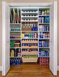A Large All-White Kitchen Pantry