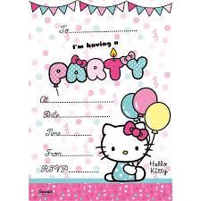 Hello Kitty Party Invitation Hello Kitty Party Invitation Cards Pk 20