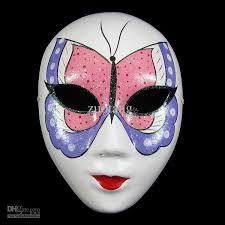 Plastic Masks To Decorate Venetian Masquerade Masks White Chinese Paper Mache Women Decorate 87