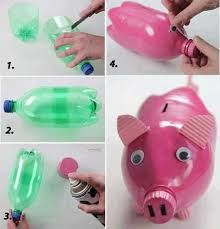 DIY Piggy Bank From Plastic Bottle diy craft crafts easy crafts diy ideas  diy crafts fun crafts kids crafts how to tutorial crafts for kids