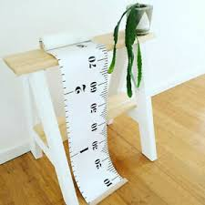 Details About Fun Baby Height Growth Chart Hanging Rulers Kids Room Wall Wood Frame Home Decor
