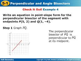 example 4 write an equation in point slope form for the