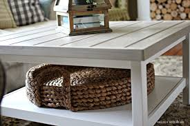 pottery barn round coffee table