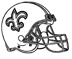 helmet football saints new orleans coloring pages nfl with page