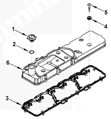 5 9l 6 7l cummins valve cover gasket 5367847 05 dodge 5 9l 6 7l cummins valve cover gasket w harness