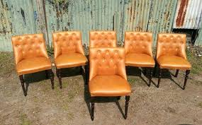 blue faux leather chair vine retro on back faux leather dining chairs tan in for amazing