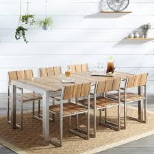 Macon 7 Piece Rectangular Teak Outdoor Dining Table Set Natural